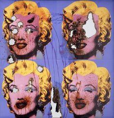DOUGLAS GORDON  Self-Portrait of You + Me (Four Blue #Marilyns), 2007  #Smoke and #Mirror