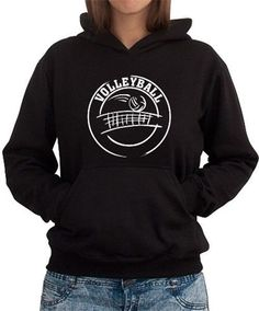 Volleyball Logo Women Hoodie