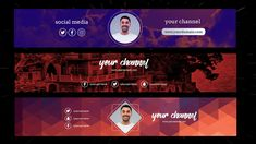 Discover recipes, home ideas, style inspiration and other ideas to try. Youtube Banner Design, Design Youtube, Youtube Banners, Social Media Poster, Social Media Branding, Social Media Design, Youtube Cover, Design Typography, Logo Design