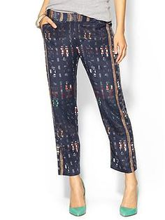 Similar to my reflective tux pants! ->10 Crosby Derek Lam Slim Trouser | Piperlime