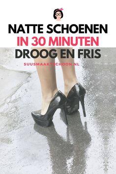 Zijn je schoenen kletsnat, dan is het best een uitdaging om ze weer snel droog te krijgen en op te frissen. Maar op deze manier lukt het om je schoenen te drogen binnen 30 minuten!
