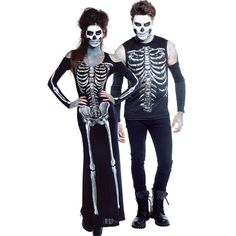 Scary Skeleton Couples Costumes - Party City   couples halloween ...