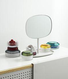 brilliant glass boxes and flip mirror by normans copenhagen