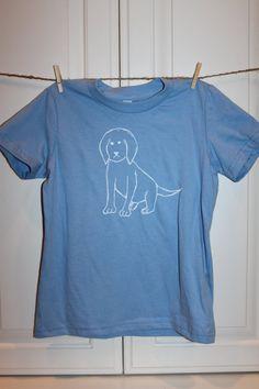 Children's ScreenPrinted Puppy Dog T-Shirt by ThisLittlePiggyNWA on Etsy, $22.00