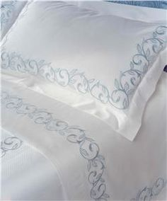 Marina embroidery  bed linens by DEA