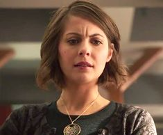 "Thea Queen (Willa Holland) on Arrow episode ""The Offer"" wears a Carved Mother of Pearl Necklace by Peggy Li Creations. http://www.peggyli.com/03x16theoffer.html"
