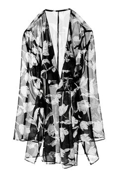Floral sheer kimono cardigan