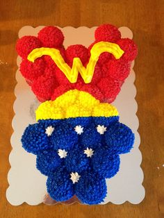 Wonder Woman cupcake cakes made for my friends birthday