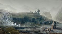 #scotland #mood #concept #design #art #environment #fantasy #magic #coast #fog #ruins #rune #castle #spirits #ghost