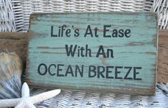 """Life Is Best In Flip Flops"" - Original Design Wood Signs - All Colors Can Be Changed - This is a hand painted wooden plaque. It is painted lime green distressed, with painted black and navy blue lett"
