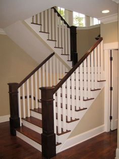 Wood Treads White And Banister More Interior Stair Railing Indoor