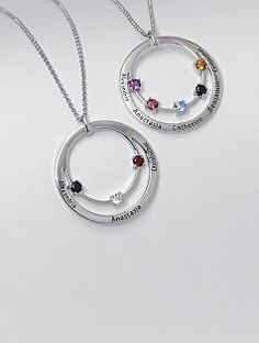would love to have this with the girls' birthstones. Only need 2 stones! ;-)