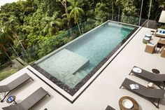 Piscina : piscinas por infinity spaces my room pool designs, Swiming Pool, Small Swimming Pools, Small Pools, Swimming Pools Backyard, Swimming Pool Designs, Pool Landscaping, Infinity Pool Backyard, Landscaping Design, Hotel Swimming Pool