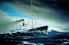 The Wexford, victim of the Great Storm of 1913– The Last Sighting – oil by Captain C. 'Bud' Robinson