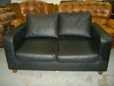 Black Leatherette 2 Seater Couch In Cork