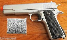 awesome M1911 Replica Handgun Full Metal Silver Airsoft Pistol 1200 PC BB COMBO DEAL - For Sale Check more at http://shipperscentral.com/wp/product/m1911-replica-handgun-full-metal-silver-airsoft-pistol-1200-pc-bb-combo-deal-for-sale/