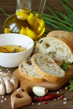 Homemade Ciabatta, Garlic Olive Oil And Spices