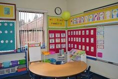 My New Classroom! Cute 1st Grade Classroom Setup! She has lots more pics and ideas on her blog: snippetsbysarahblogspot: