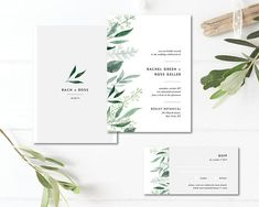 Hi there :) This listing is all about that greenery and foliage trend! Our - MODERN BOTANICAL - digital printable wedding invitation suite will fit in any modern, botanical, greenery and simple wedding. All of our wedding invitations set can be personalized.