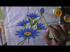 YouTube Hand Painting Art, Fabric Painting, Fashion Designing Course, Floral Fabric, Paint Designs, Learn Online, Fabric Design, Modern Design, Floral Design