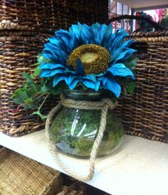 Single turquoise flower 2014 by kristy@michaels