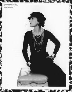 Coco Chanel by Man Ray, 1935.