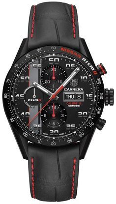 TAG Heuer Carrera NISMO Calibre 16 Special Edition watch dedicated to the legendary (and arguably world's most important) endurance race: 24 Hours of Le Mans. This highly successful relationship between TAG and Le Mans all started in the Amazing Watches, Beautiful Watches, Cool Watches, Watches For Men, Unique Watches, Army Watches, Sport Watches, Dream Watches, Luxury Watches