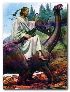 image of jesus holding a dinosaur   Monday, September 29, 2008