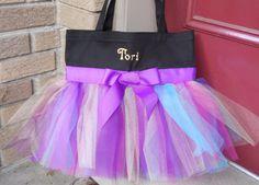 Embroidered Dance Bag Tutu cute Black Dance Bag with por naptime21