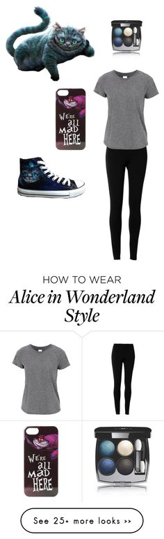 """""""Cheshire Cat"""" by vlhuerta on Polyvore featuring Converse, Max Studio, Chanel and Disney"""