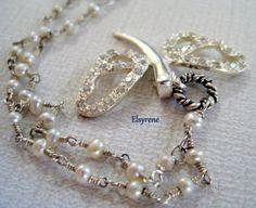 Romantic Silver Dragonfly Rhinestone Necklace-Bling CZ by elsyrene