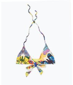 Zara floral crossover bikini