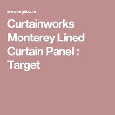 Curtainworks Monterey Lined Curtain Panel : Target