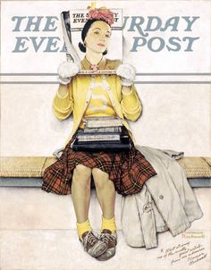 "Norman Rockwell's ""Triple Self-Portrait"" appeared on the cover of The Saturday Evening Post on February 13th, 1960. Description from goldcountrygirls.blogspot.com. I searched for this on bing.com/images"