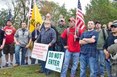 Marchers at the entrance of Gettysburg.  10-13-13