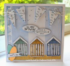 Kath's Blog......diary of the everyday life of a crafter 70th Birthday Card, Homemade Birthday Cards, Fathers Day Cards, Valentine Day Cards, Nautical Cards, Beach Cards, Craftwork Cards, Retirement Cards, Masculine Cards