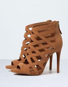 Bershka criss-cross strappy sandals - Shoes - Bershka United Kingdom