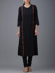 Buy Blue Ajrakh Printed Cotton Kurta Women Kurtas Online at Jaypore.com
