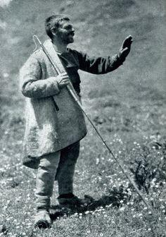 "Albania. ""Aromanian shepherd with his staff"", 1929, photo Hugo Bernatzik"
