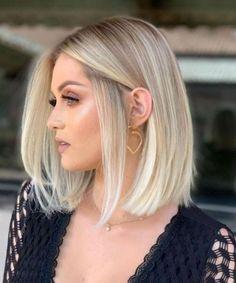 blonde hair Blonde Bob Wig, Blonde Hair Looks, Blonde Bob Hairstyles, Short Hairstyles For Thick Hair, Blonde Balayage, Blonde Blunt Bob, Short Blonde Bobs, Short Haircuts Women, Medium Blonde Bob