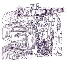 DISPARO 01 caneta sobre papel, tempo livre