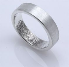 Cool wedding ring idea...her fingerprint on the inside of his ring and vice versa