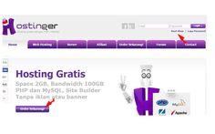 Halaman pertama web hosting saat mendaftar