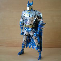 How Idea meets Creativity; Batman made from Beer Cans – Cool batman stuff @ www.epicheroes.com