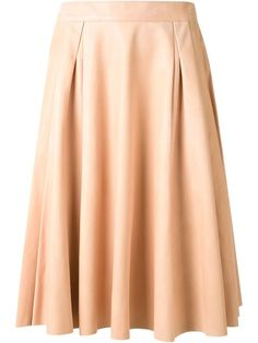 Scanlan Theodore leather pleated skirt