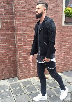 Modern Mens Fashion, Outfits Hombre, Leather Jacket Outfits, Next Clothes, Urban Street Style, Simple Outfits, Mens Clothing Styles, Stylish Men, Swagg