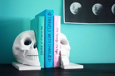 Halloween Decorating DIY Idea: Skull Bookends The Band Wife   Apartment Therapy