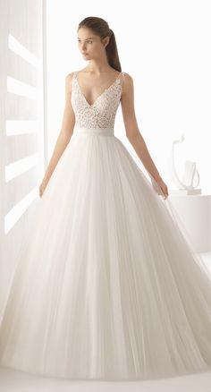 Courtesy of Rosa Clara wedding dresses; www.rosaclara.es; Wedding dress idea.