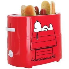 Lunch is served! Get cooking with the Snoopy & Charlie Brown themed hot dog toaster. Start shopping at CollectPeanuts.com and support our site.