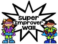 WBT Super Improver Wall - Superhero Theme